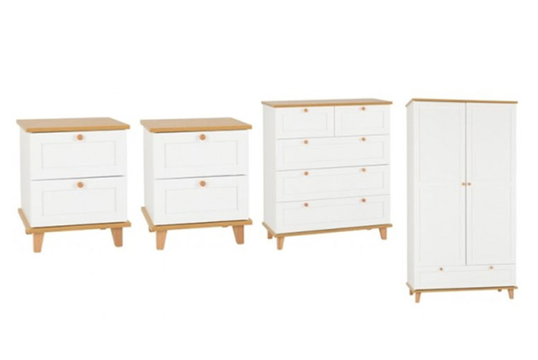 4pc Ellis Bedroom Furniture Set – 2 Options! (from £529)