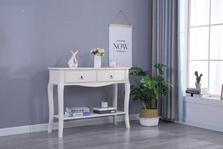 French Style White Console Table (from £64)