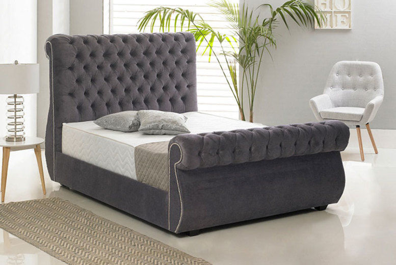 Crushed Velvet Chiswick Bed - 5 Sizes & 7 Colours!
