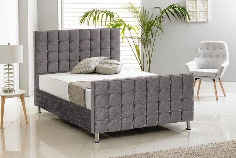 Crush Velvet Bed – 6 Options! (from £199)