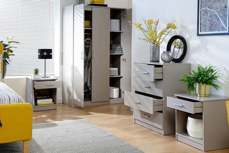 Frisco Bedroom Furniture Set - 5 Colours!