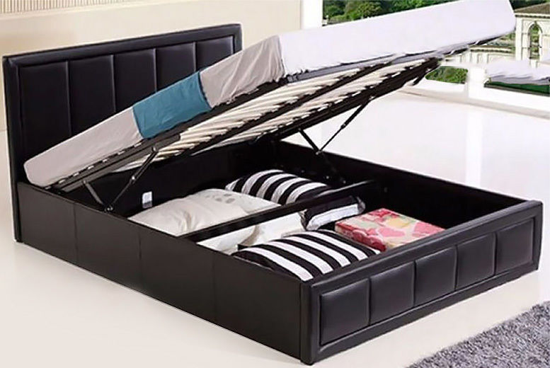 Admirable Faux Leather Storage Bed Beds Mattresses Deals In Shop Gmtry Best Dining Table And Chair Ideas Images Gmtryco