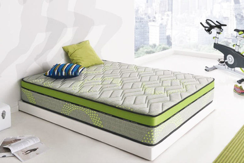 7-Zone Cool Blue Gel Memory Foam Sports Mattress - 3 Sizes!