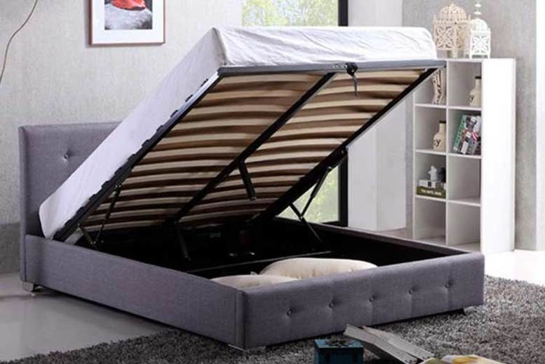 Grey Ottoman Storage Bed (from £109)
