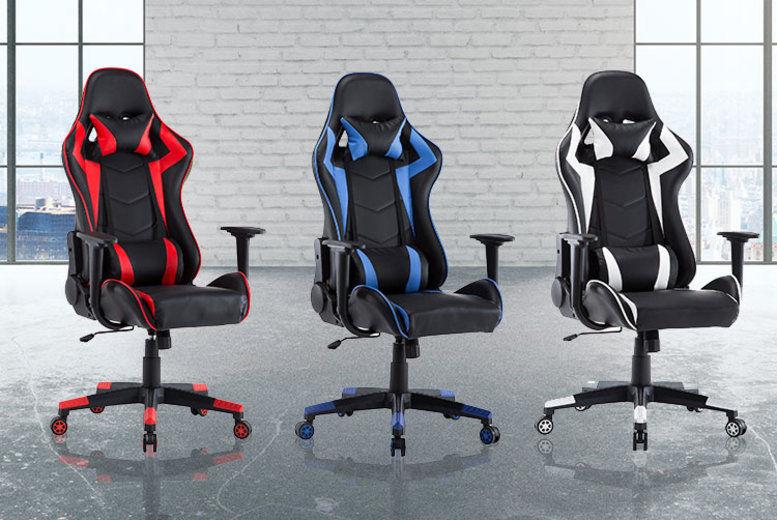 Super Reclining Racing Office Chair Shop Wowcher Machost Co Dining Chair Design Ideas Machostcouk