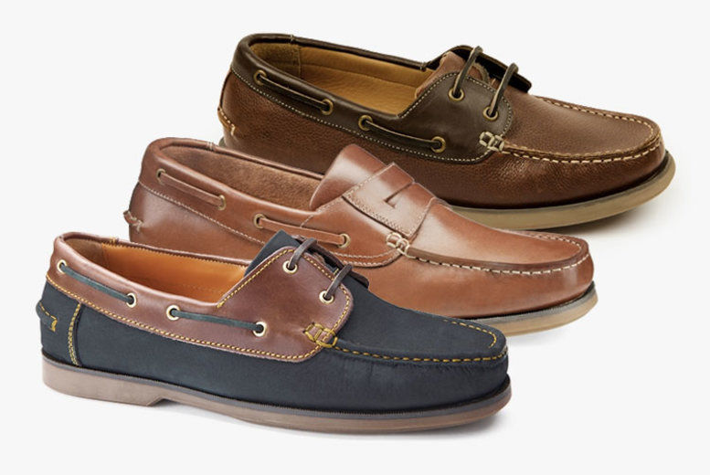 Samuel Windsor Mens Shoes Classic Deck Lace Up Casual Navy Brown UK Sizes 5-14