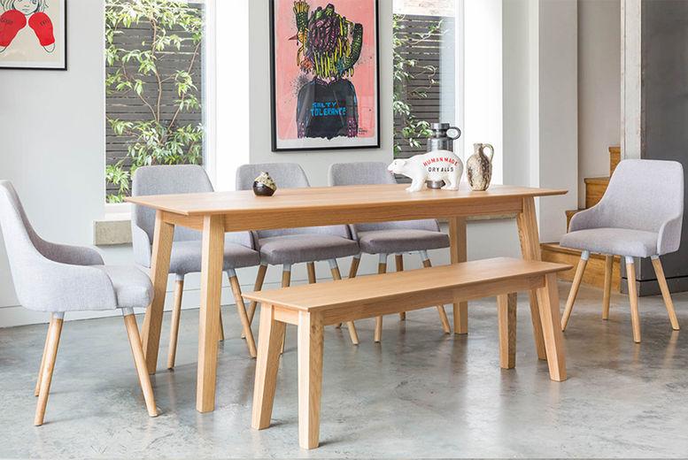 Vienna Dining Set With Bench Dining Furniture Deals In Essex