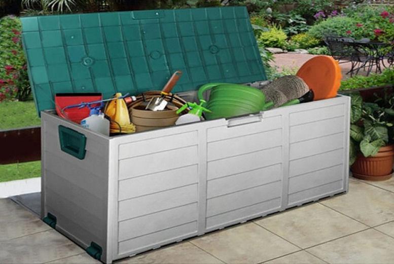 Outdoor Garden Storage Chest Shed Box, Outdoor Wooden Storage Box Waterproof