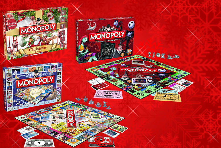 linen ideas monopoly games - Nightmare Before Christmas Board Game