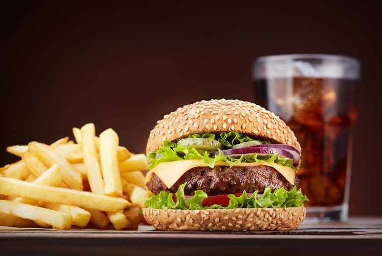 Burgers, Fries & Drink for 2