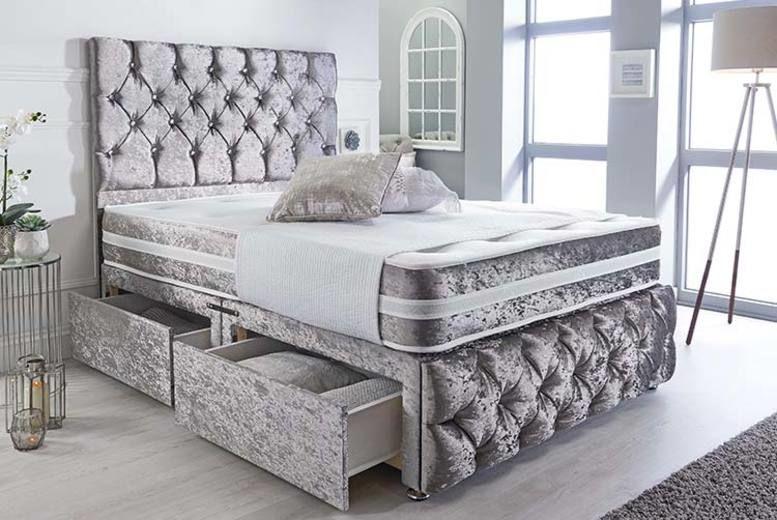 Crushed Velvet Divan Bed Shop Livingsocial