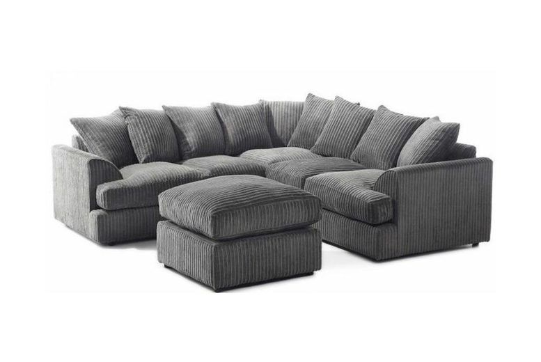 Corner Sofa Set with Footstool