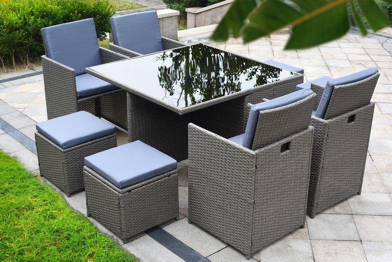 Rattan Set For Garden Off 61, Grey Rattan Garden Furniture Cube Sets