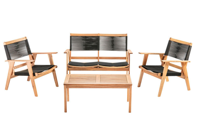 4pc Acacia String Sofa Set | Shop | Wowcher