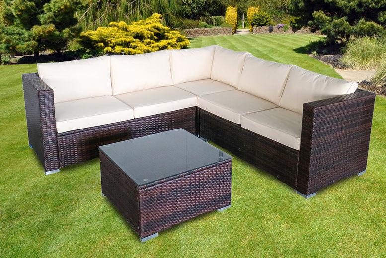 5-Seat Garden Rattan Set | Shop | Wowcher