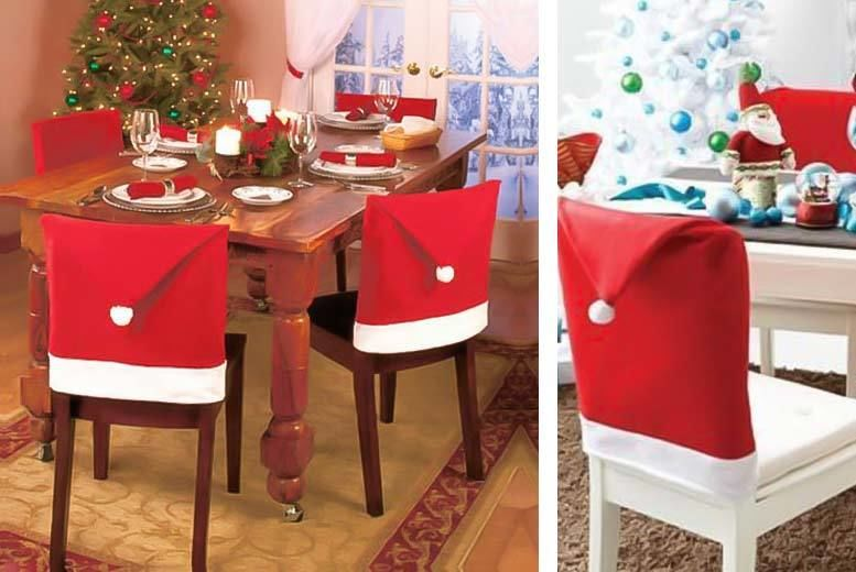 Surprising Santa Hat Chair Covers 4 6 8 10 Home Deals In Squirreltailoven Fun Painted Chair Ideas Images Squirreltailovenorg