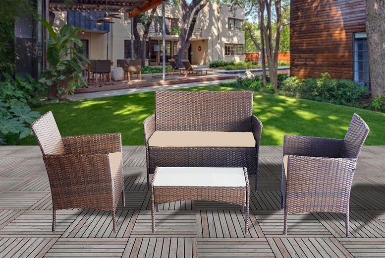Rattan Garden Furniture Set Garden Deals In Shop Wowcher