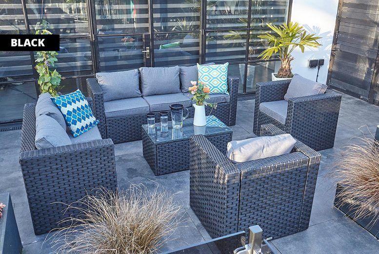 7 Seater Rattan Furniture Set | Shop | Wowcher