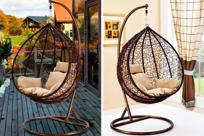 Outdoor Rattan Hanging Egg Chair