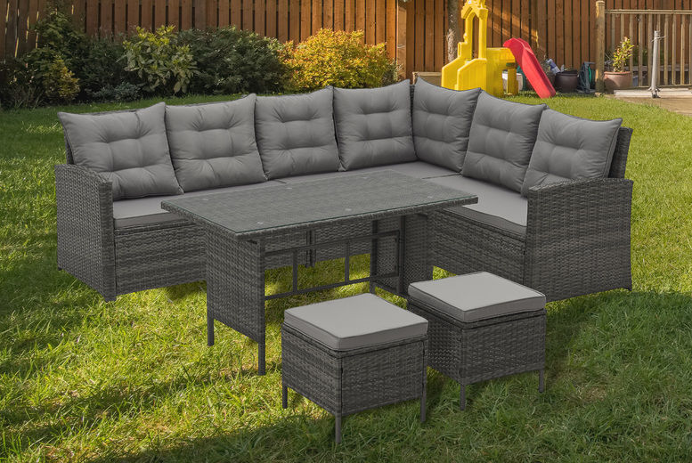 8-Seater Evre Monroe Rattan Garden Furniture Set
