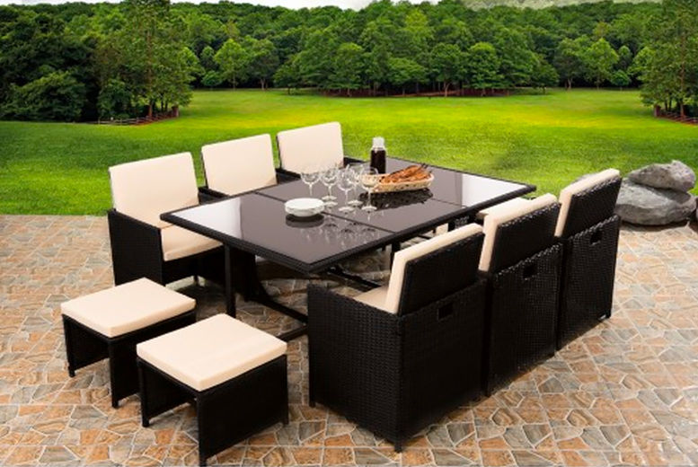 10-Seater Rattan Dining Set