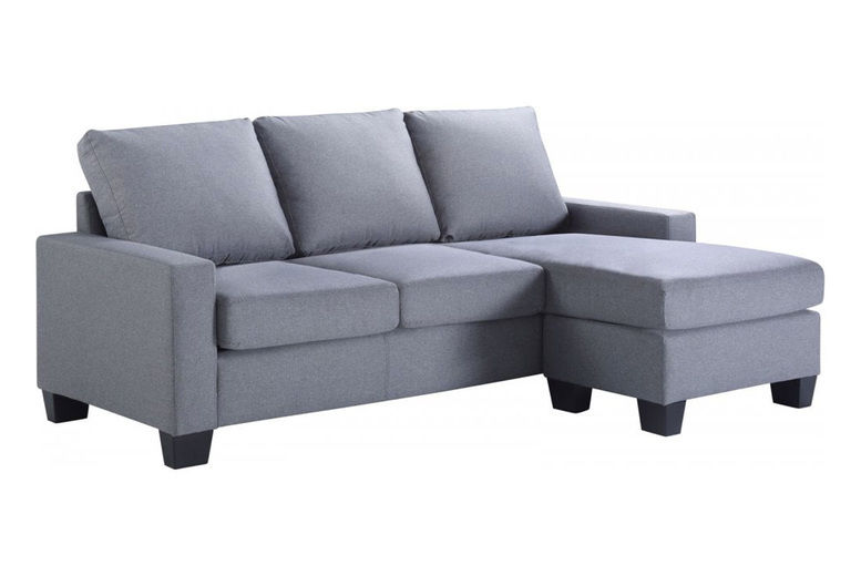3-Seater Interchangeable Fabric Corner Sofa