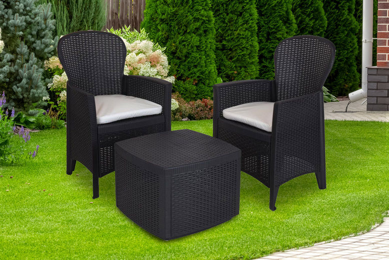 3pc Outdoor Garden Rattan Furniture Set