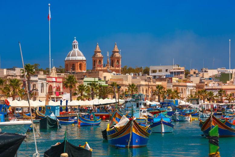 Luzzu, Malta, Stock Image - Fishing Village