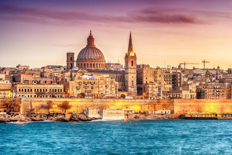 Valetta, Malta, Stock Image - Skyline Sunset