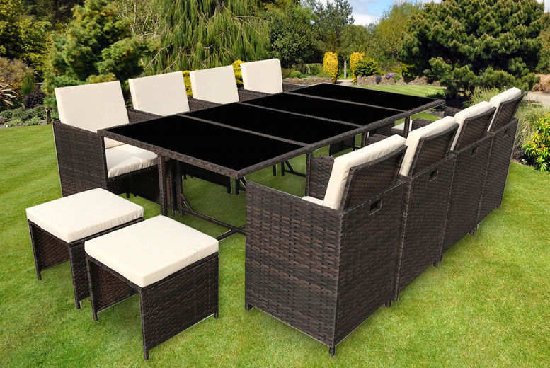 Rattan 12-Seater Garden Furniture Set