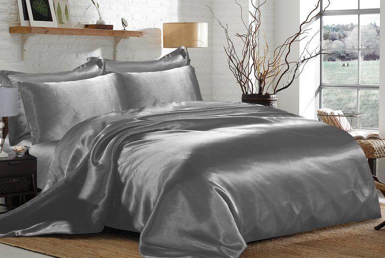 6 Piece Satin Bedding Set Deal, King Size Bedding Set