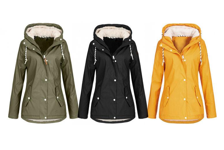 Hari Deals Ladies Light Showerproof Raincoat Mac Parka Jacket