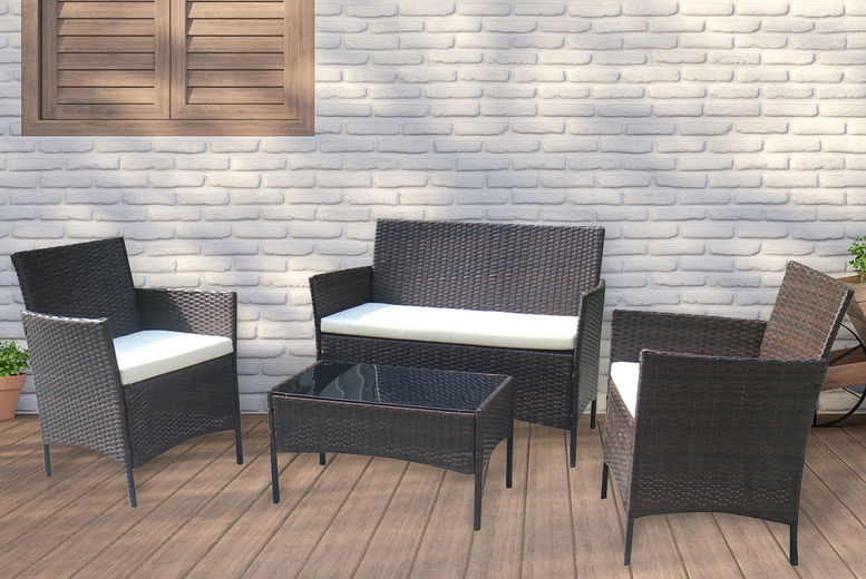 4 Seater Rattan Garden Furniture Set Offer Garden Furniture Deals In Hull And East Riding