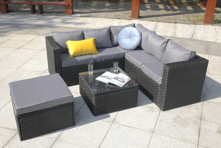 6-Seater Corner Garden Rattan Furniture Set