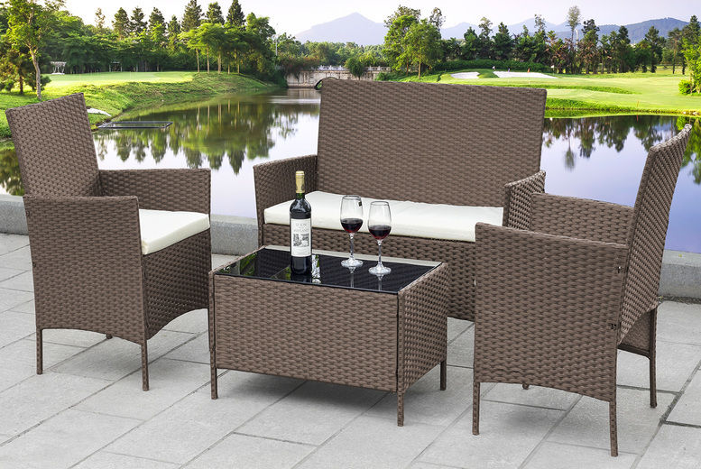 Marylebone 4pc Rattan Garden Furniture Set
