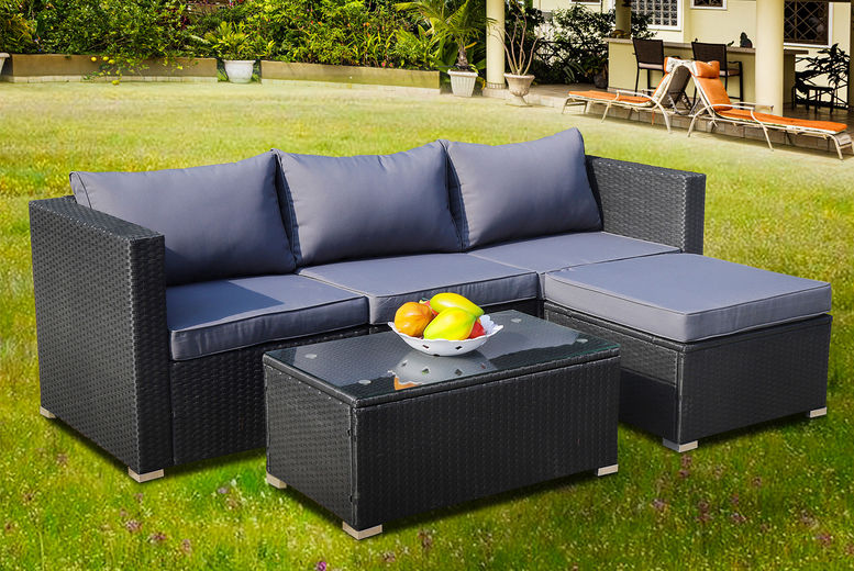 Corner Rattan Furniture Set