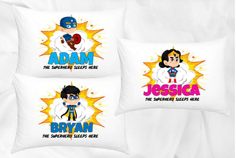 Personalised Kids' Superhero Pillowcase