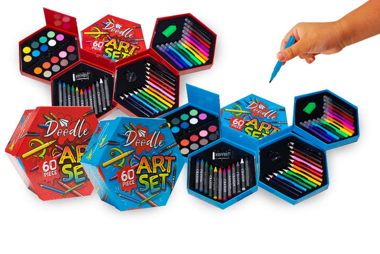 Doodle-60-Piece-Hexagon-Fold-Out-Box-Washable-Arts-and-Crafts-Set-1