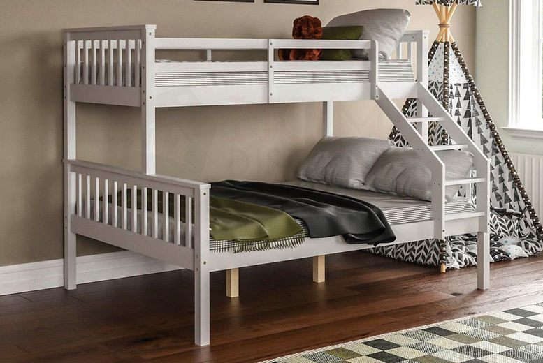 Triple Sleeper Bunk Bed Deal 3 Colours Wowcher