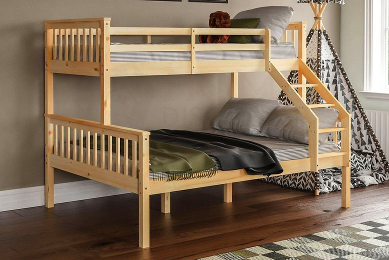 Triple Sleeper Bunk Bed Deal 3 Colours Wowcher