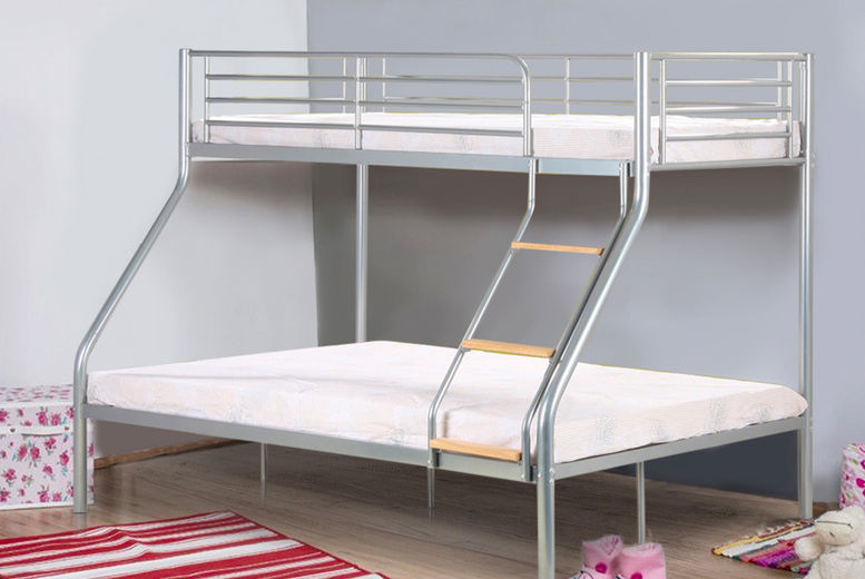 Metal Triple Bunk Bed With Mattress Options Wowcher