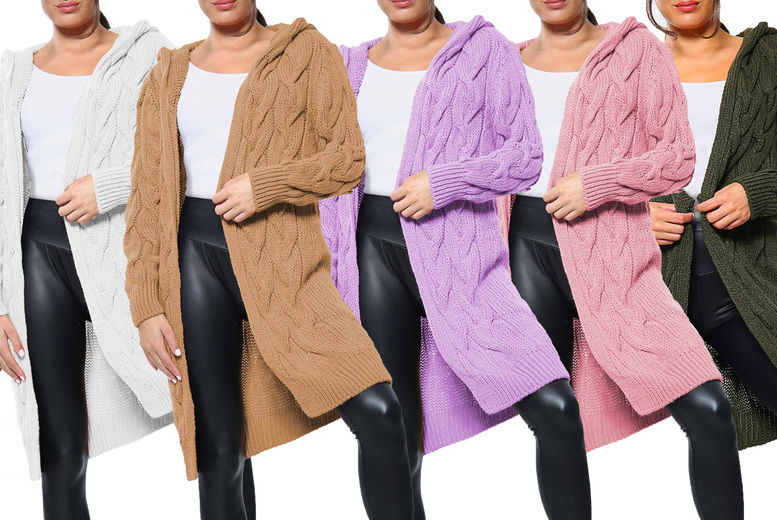 Want-Clothing-LTd-Womens-Long-Hooded-Cable-Knit-Cardigan-1