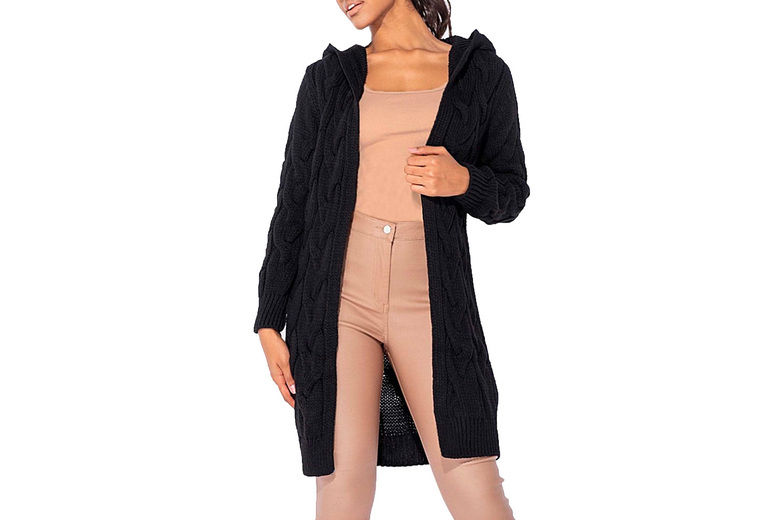Want-Clothing-LTd-Womens-Long-Hooded-Cable-Knit-Cardigan-2