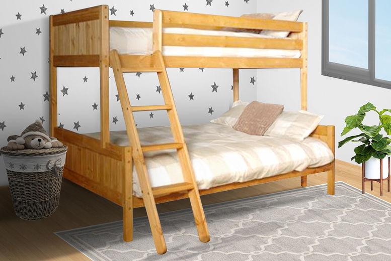 Triple Wooden Bunk Bed Frame Offer Shop Wowcher