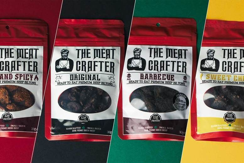 The Meat Crafter Bundle Of Beef Biltong - 8 Packs