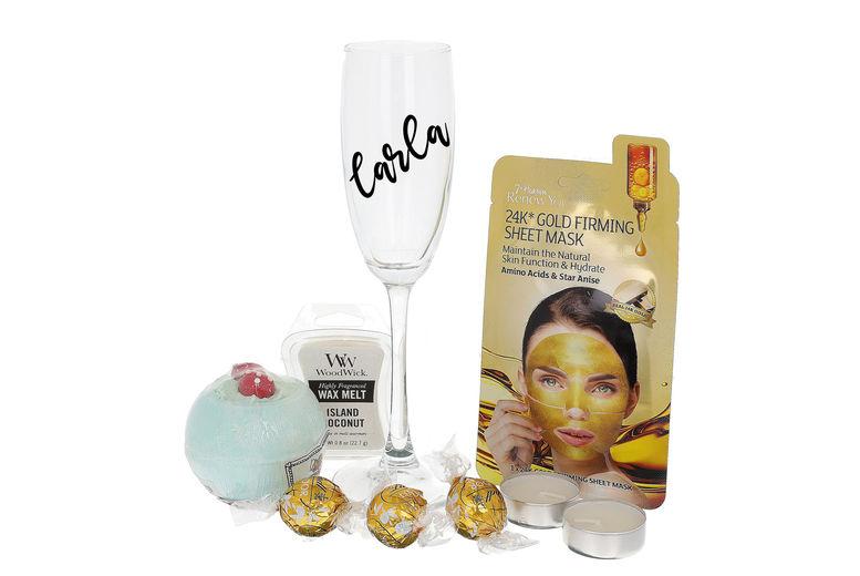 Spa Hamper & Personalised Prosecco Glass Voucher