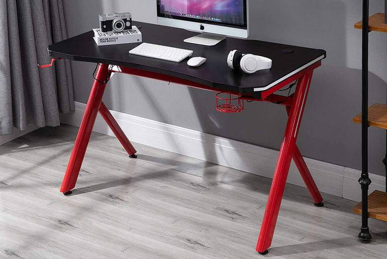 Mhstar-UK-Ltd.---HOMCOM-Steel-Frame-LED-Gaming-Desk
