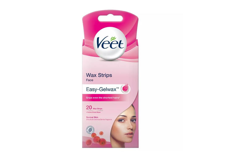 Veet-Face-Wax-Strips-&-Perfect-Finish-Wipes-For-Normal-Skin,-20-or-40-Wax-Strips