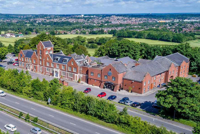 The Hog's Back Hotel - Aerial View