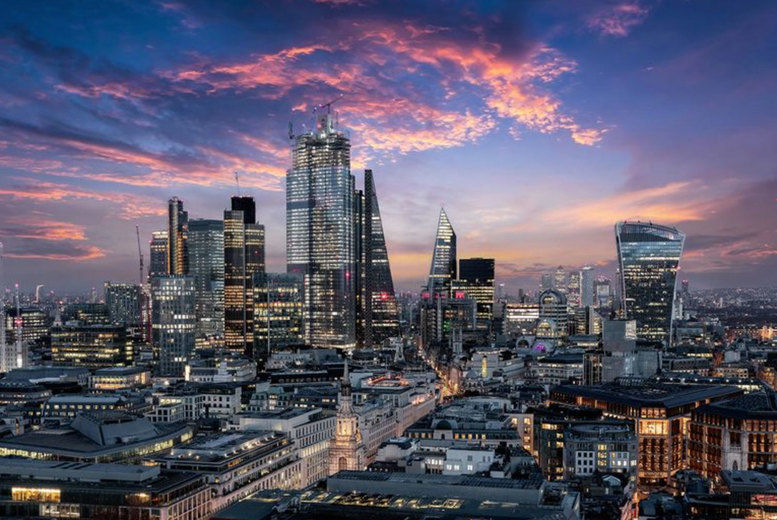 The City of London just after sunset, United-Kingdom